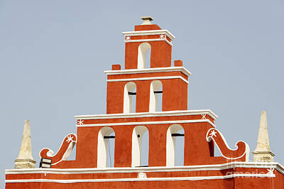 Photograph - Colorful Belfry Merida Mexico by John  Mitchell