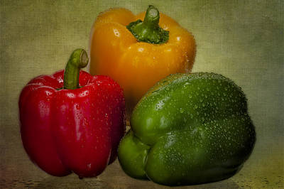 Photograph - Colorful Bell Peppers by Susan Candelario