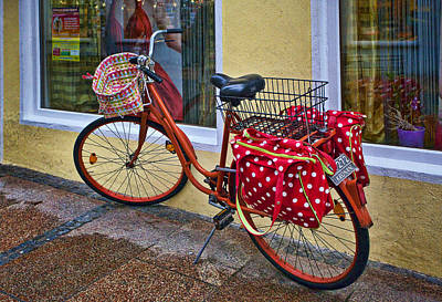 Aged Photograph - Colorful Bike by Marcia Colelli