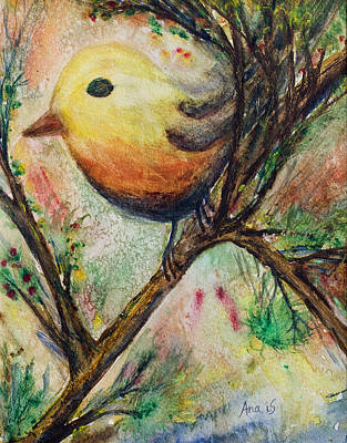 Painting - Colorful Bird by Anais DelaVega
