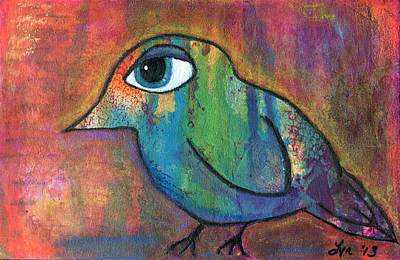Painting - Colorful Bird by Lynda Metcalf