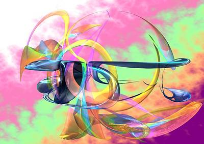 Digital Art - Colorful Bird-of Paradise by Louis Ferreira