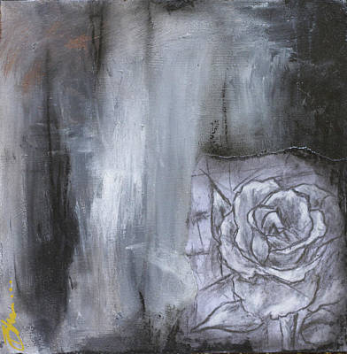 Colorful Black And White Rose Original