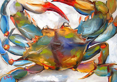 Claw Painting - Colorful Blue by Carole Foret