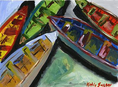 Painting - Colorful Boats by Katie Sasser