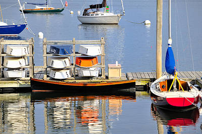Photograph - Colorful Boats Rockland Maine by Marianne Campolongo