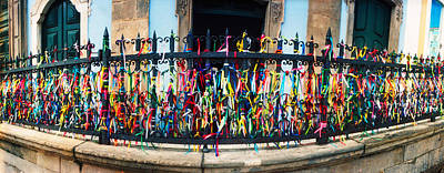 Colorful Bonfim Wish Ribbons Tied Art Print by Panoramic Images