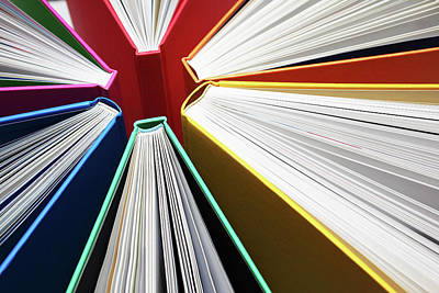 Photograph - Colorful Books Abstract by Blackred