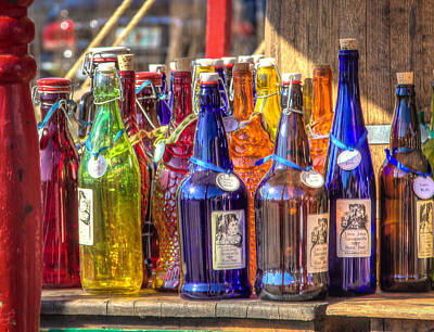 Photograph - Colorful Bottles by Jane Luxton