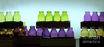 Photograph - Colorful Bottles by Renee Trenholm