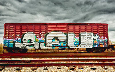 Photograph - Colorful Boxcar by Ricky L Jones