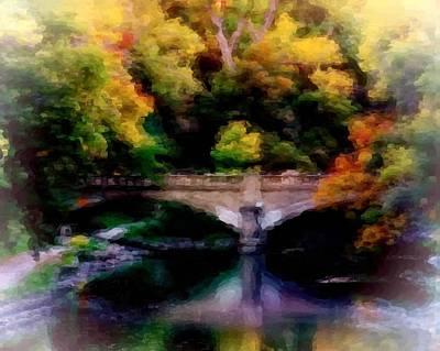 Colorful Bridge Art Print by Cindi Snow