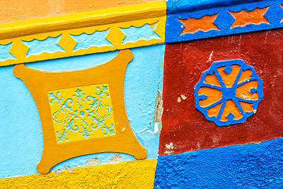 Guatape Photograph - Colorful Building Detail by Jess Kraft