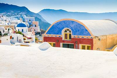 Santorini Photograph - Colorful Building In Oia by Bjoern Kindler