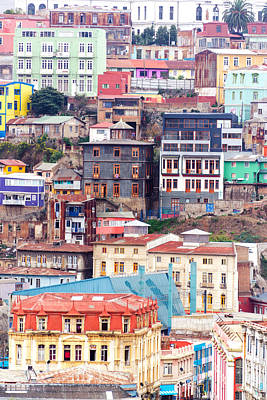 Valparaiso Photograph - Colorful Buildings On A Hill by Jess Kraft