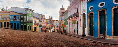 Colorful Buildings, Pelourinho Art Print by Panoramic Images