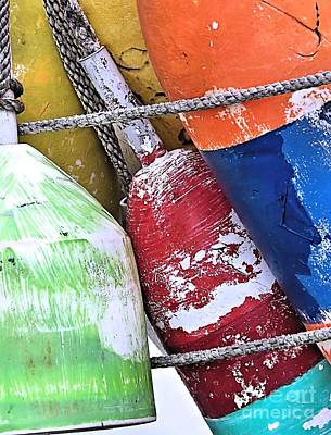 Photograph - Colorful Buoys by Janice Drew