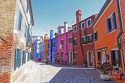 Colorful Burano Art Print by Ernst Cerjak