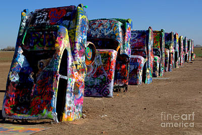 Photograph - Colorful Cadillacs by Jim McCain