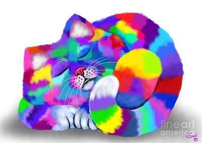 Colorful Calico Art Print by Nick Gustafson