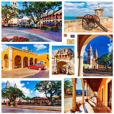 Photograph - Colorful Campeche Mexico by Jo Ann Snover