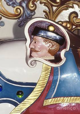 Photograph - colorful carnival art - Carousel Captain by Sharon Hudson