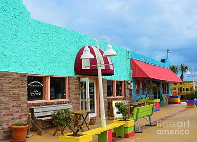 Photograph - Colorful Carolina Beach Store Fronts by Bob Sample