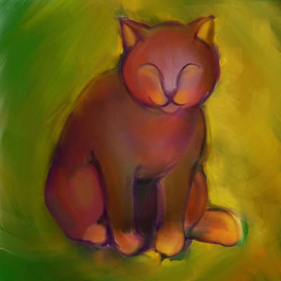 Colorful Cat 2 Art Print by Anna Gora