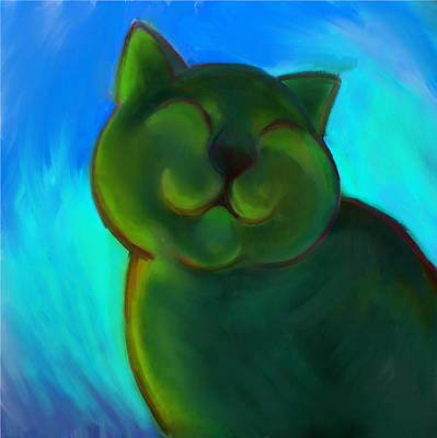Colorful Cat 4 Art Print by Anna Gora