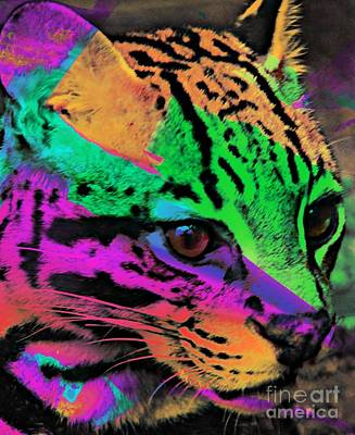 Colorful Cat Art Print by Kathleen Struckle