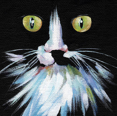 Painting - Colorful Cat by Natasha Denger