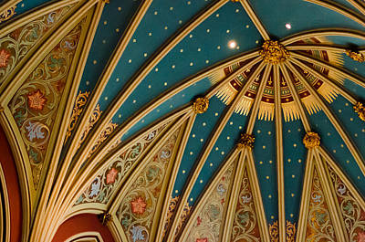 Photograph - Colorful Cathedral Ceiling by Anthony Doudt