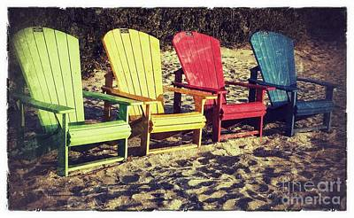 Photograph - Colorful Chairs by Patricia Januszkiewicz