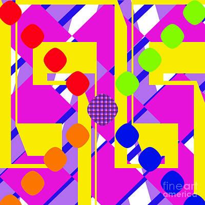 Digital Art - Colorful Chaos by Susan Stevenson