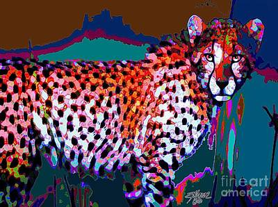 Colorful Cheetah Art Print