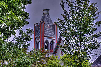 Photograph - Colorful Church Steeple by Jim Boardman