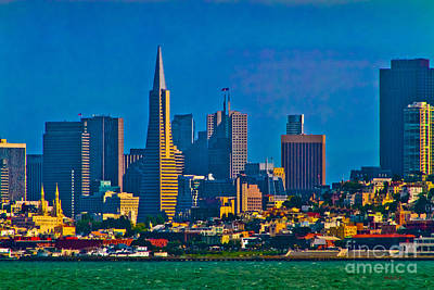 Colorful City By The Bay Art Print by Mitch Shindelbower