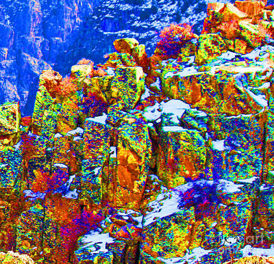Photograph - Colorful Cliff by Roena King