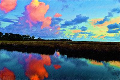 Photograph - Colorful Cloud Reflections by Richard Zentner