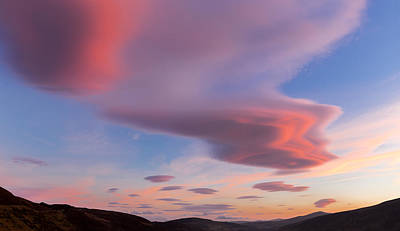 Colorful Clouds Over Wicklow Mountains Art Print by Semmick Photo