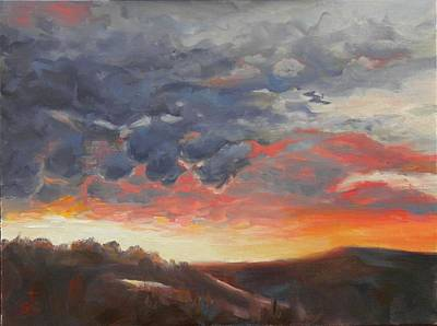 Painting - Colorful Clouds by Sharon Casavant