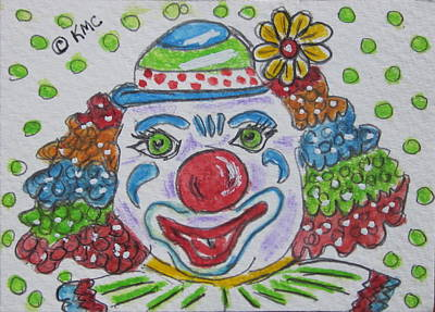 Painting - Colorful Clown by Kathy Marrs Chandler