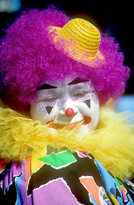 Colorful Clown Art Print by Kenneth Pagel