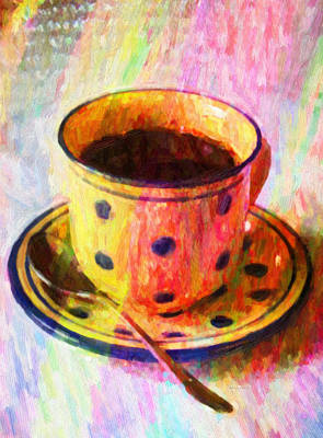 Tableware Photograph - Colorful Coffee by Kenny Francis