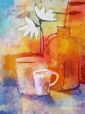 Coffee Painting - Colorful Coffee by Lutz Baar