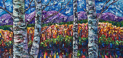 Painting - Colorful Colorado Impasto by OLena Art Brand