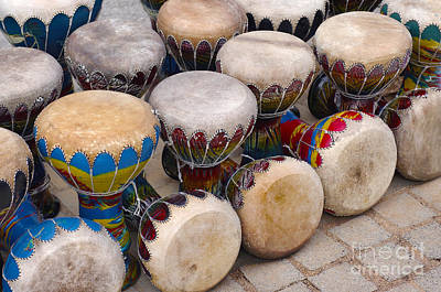 Colorful Congas Print by Carlos Caetano