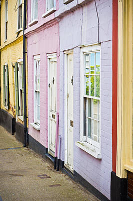 Neighbour Photograph - Colorful Cottages by Tom Gowanlock