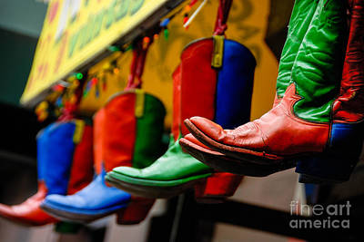 Primary Colors Digital Art - Colorful Cowboy Boots by Amy Cicconi