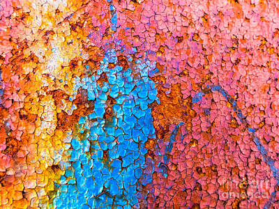 Photograph - Colorful Cracks by Silvia Ganora